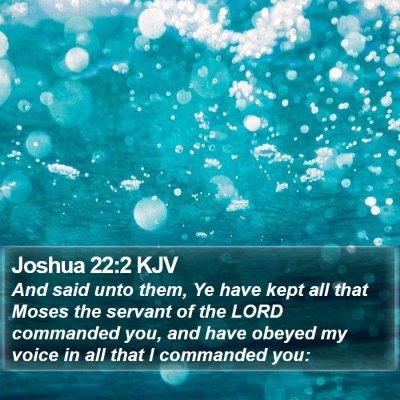 Joshua 22:2 KJV Bible Verse Image