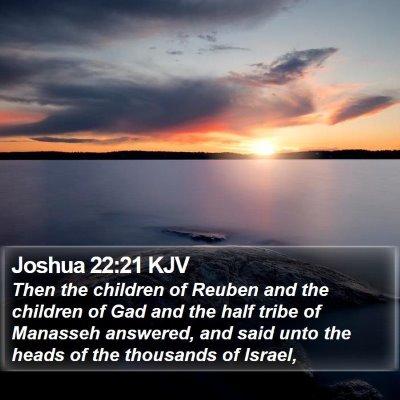 Joshua 22:21 KJV Bible Verse Image