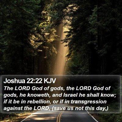 Joshua 22:22 KJV Bible Verse Image
