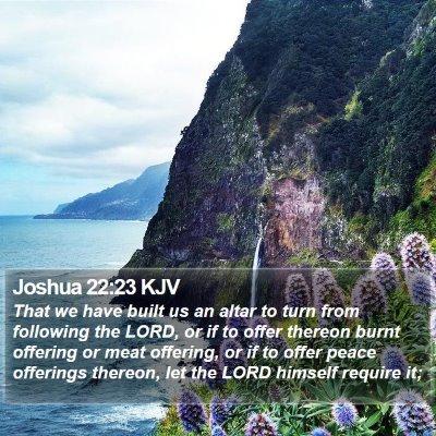 Joshua 22:23 KJV Bible Verse Image