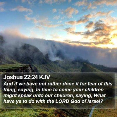 Joshua 22:24 KJV Bible Verse Image