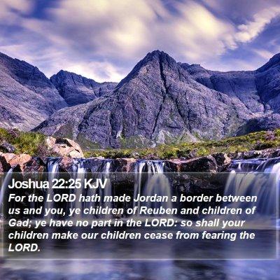 Joshua 22:25 KJV Bible Verse Image