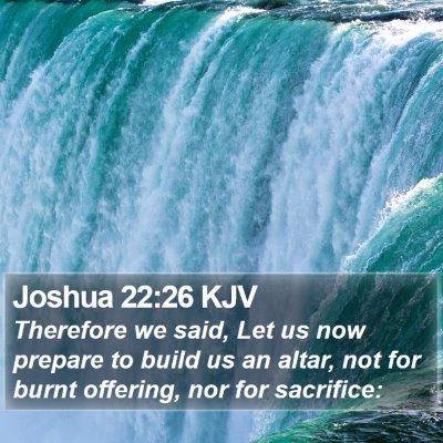 Joshua 22:26 KJV Bible Verse Image