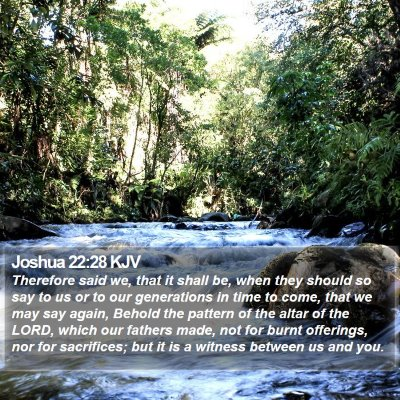 Joshua 22:28 KJV Bible Verse Image