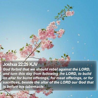 Joshua 22:29 KJV Bible Verse Image