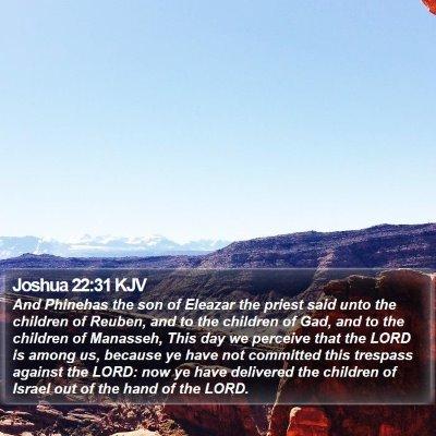 Joshua 22:31 KJV Bible Verse Image