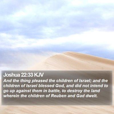 Joshua 22:33 KJV Bible Verse Image