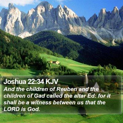 Joshua 22:34 KJV Bible Verse Image