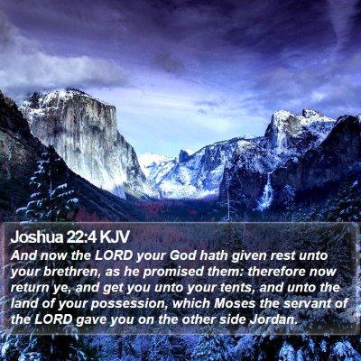 Joshua 22:4 KJV Bible Verse Image