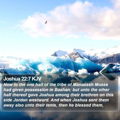 Joshua 22:7 KJV Bible Verse Image