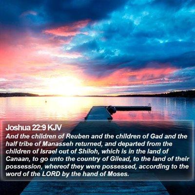 Joshua 22:9 KJV Bible Verse Image