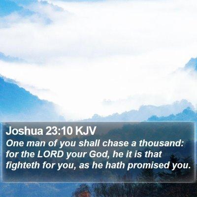 Joshua 23:10 KJV Bible Verse Image