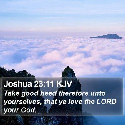 Joshua 23:11 KJV Bible Verse Image