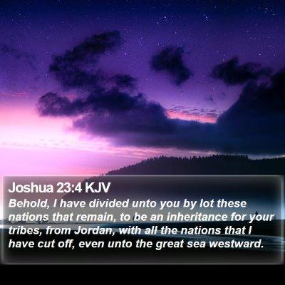 Joshua 23:4 KJV Bible Verse Image