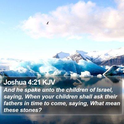Joshua 4:21 KJV Bible Verse Image