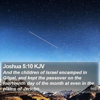 Joshua 5:10 KJV Bible Verse Image