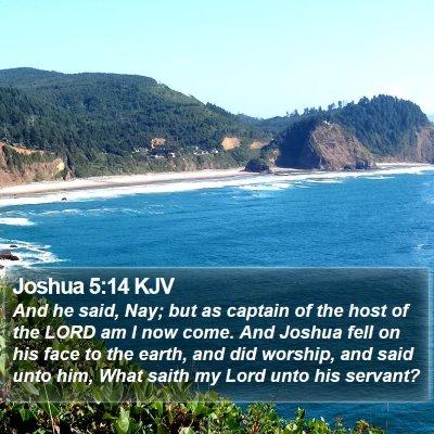Joshua 5:14 KJV Bible Verse Image