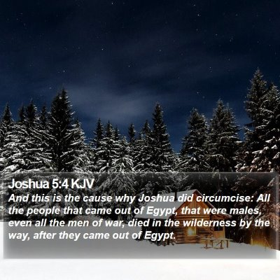 Joshua 5:4 KJV Bible Verse Image