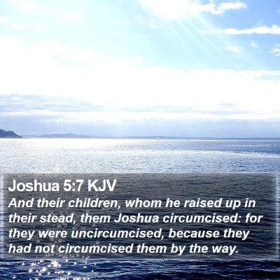 Joshua 5:7 KJV Bible Verse Image