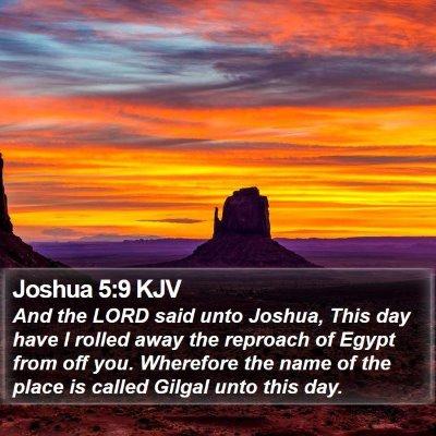 Joshua 5:9 KJV Bible Verse Image