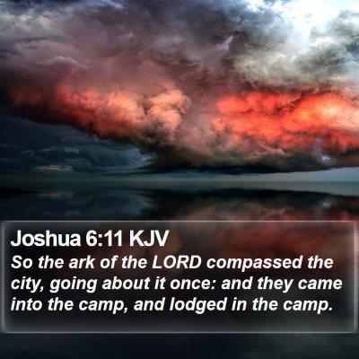 Joshua 6:11 KJV Bible Verse Image