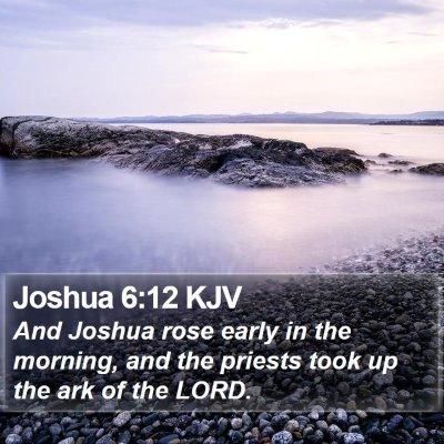 Joshua 6:12 KJV Bible Verse Image