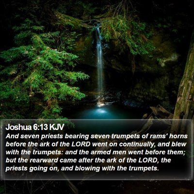Joshua 6:13 KJV Bible Verse Image