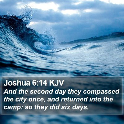 Joshua 6:14 KJV Bible Verse Image