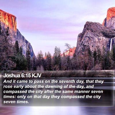 Joshua 6:15 KJV Bible Verse Image