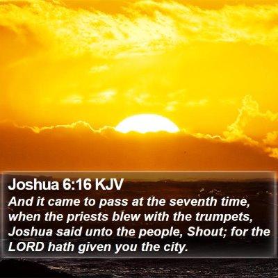 Joshua 6:16 KJV Bible Verse Image