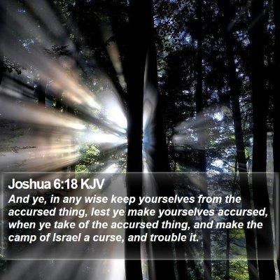 Joshua 6:18 KJV Bible Verse Image
