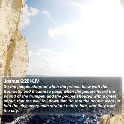 Joshua 6:20 KJV Bible Verse Image