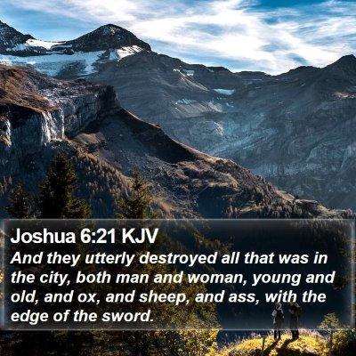 Joshua 6:21 KJV Bible Verse Image