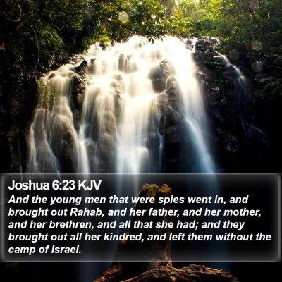 Joshua 6:23 KJV Bible Verse Image