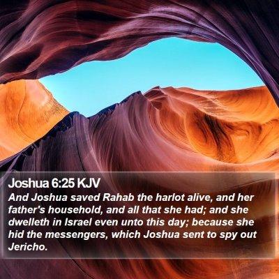 Joshua 6:25 KJV Bible Verse Image