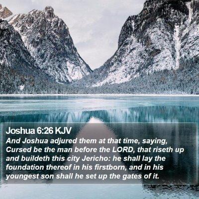 Joshua 6:26 KJV Bible Verse Image