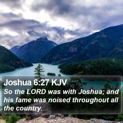 Joshua 6:27 KJV Bible Verse Image