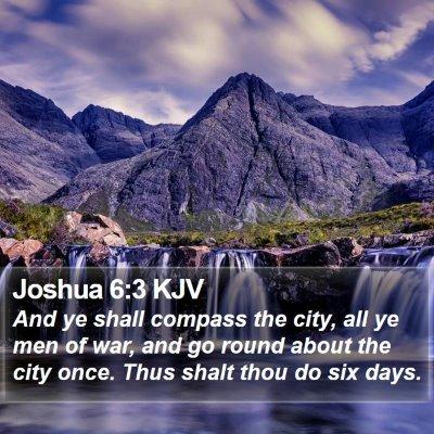 Joshua 6:3 KJV Bible Verse Image