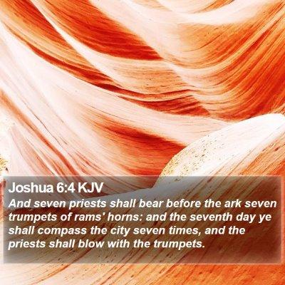 Joshua 6:4 KJV Bible Verse Image