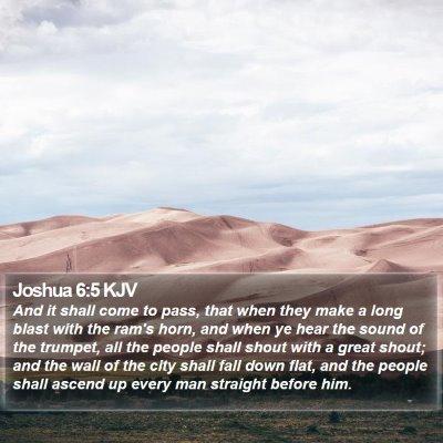 Joshua 6:5 KJV Bible Verse Image