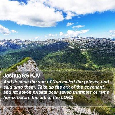 Joshua 6:6 KJV Bible Verse Image