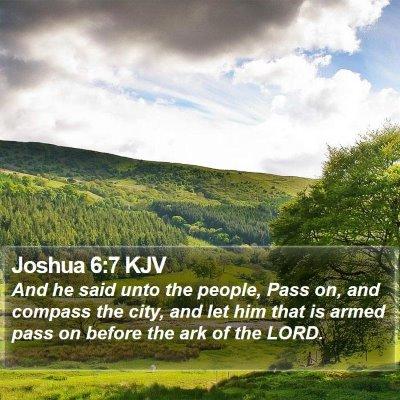 Joshua 6:7 KJV Bible Verse Image