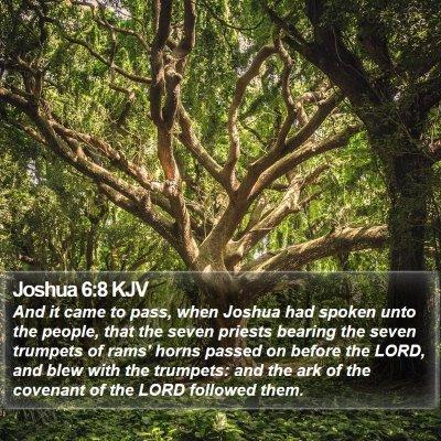 Joshua 6:8 KJV Bible Verse Image