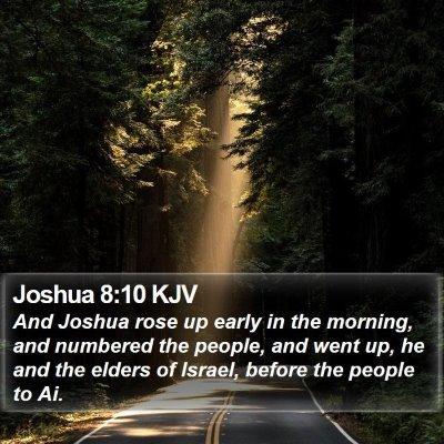 Joshua 8:10 KJV Bible Verse Image