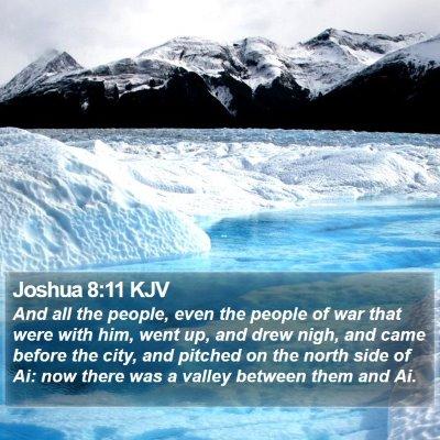 Joshua 8:11 KJV Bible Verse Image