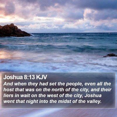 Joshua 8:13 KJV Bible Verse Image