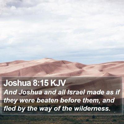 Joshua 8:15 KJV Bible Verse Image