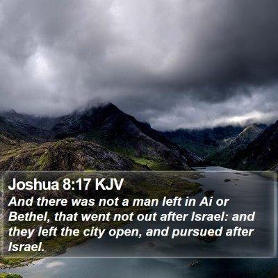 Joshua 8:17 KJV Bible Verse Image