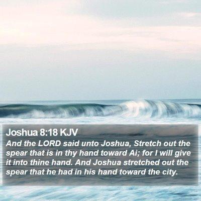 Joshua 8:18 KJV Bible Verse Image