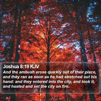 Joshua 8:19 KJV Bible Verse Image